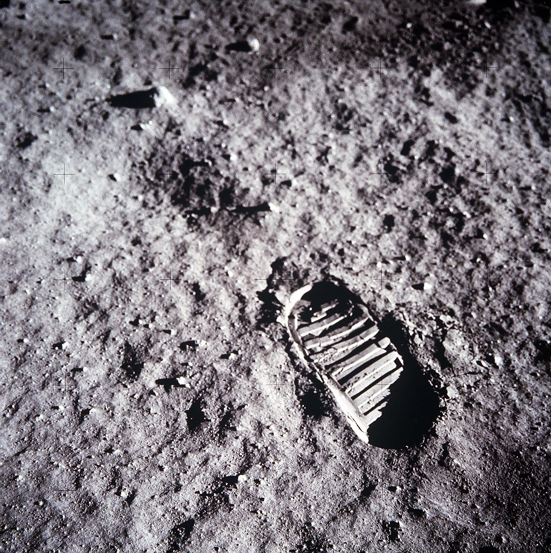 Footprint on the moon Apollo 11 NASA