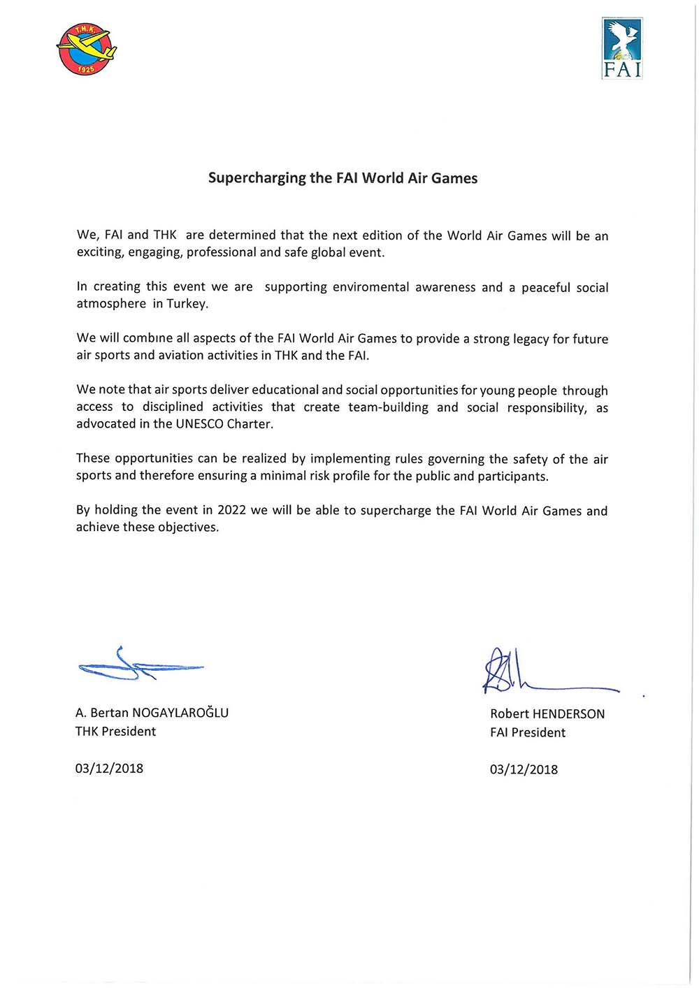FAI World Air Games 2022