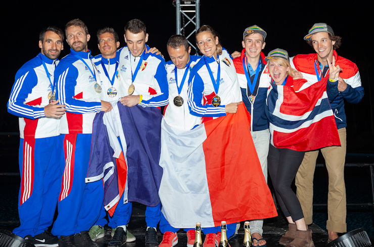 World Freeflying Champions and Silver, Bronze Winners