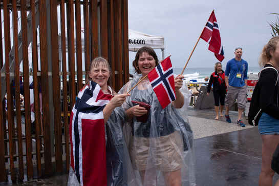 Norwegians enjoying the Rain